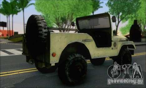 Jeep From The Bureau XCOM Declassified для GTA San Andreas вид слева