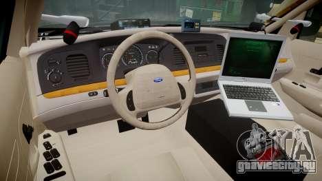 Ford Crown Victoria LASD [ELS] Marked для GTA 4 вид сзади