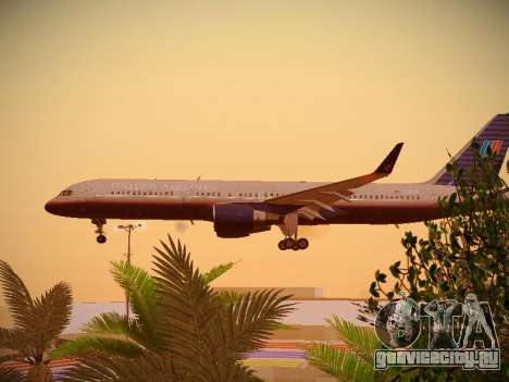 Boeing 757-224 United Airlines для GTA San Andreas вид изнутри