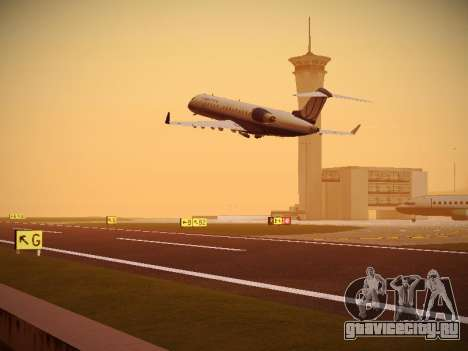 Bombardier CRJ-700 United Express для GTA San Andreas