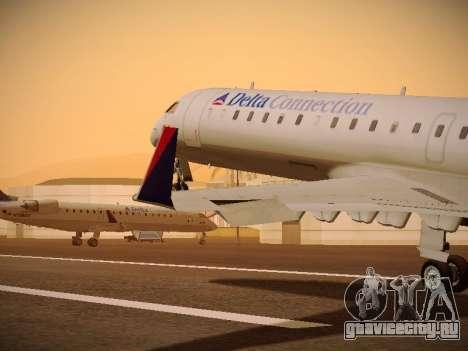 Bombardier CRJ-700 Delta Connection для GTA San Andreas салон