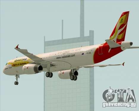Airbus A321-200 Qantas (Wallabies Livery) для GTA San Andreas колёса