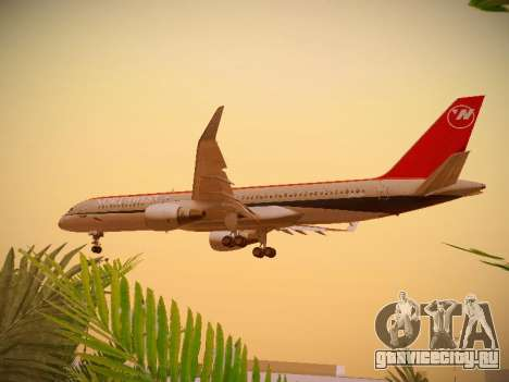 Boeing 757-251 Northwest Airlines для GTA San Andreas вид сбоку