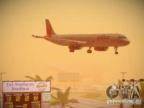 Airbus A321-232 jetBlue Boston Red Sox для GTA San Andreas вид сверху
