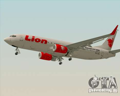 Boeing 737-800 Lion Air для GTA San Andreas вид слева