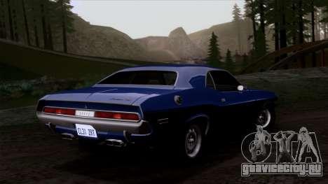Dodge Challenger 426 Hemi (JS23) 1970 (HQLM) для GTA San Andreas вид изнутри