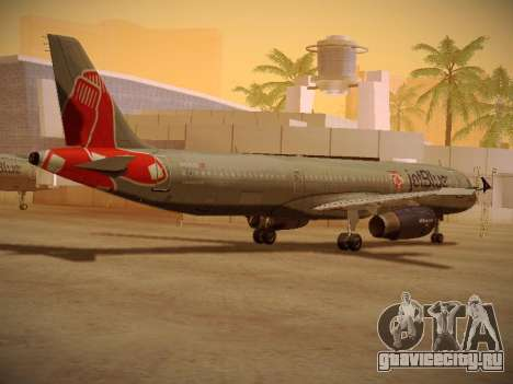 Airbus A321-232 jetBlue Boston Red Sox для GTA San Andreas вид справа