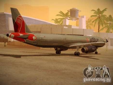 Airbus A321-232 jetBlue Boston Red Sox для GTA San Andreas вид справа