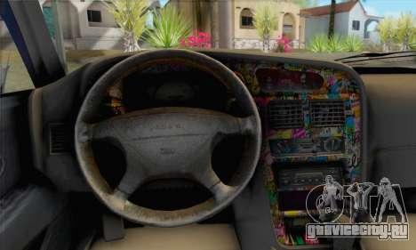 Proton Wira Slammed для GTA San Andreas вид сзади слева