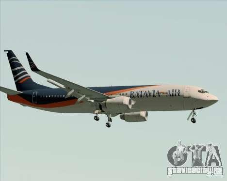Boeing 737-800 Batavia Air (New Livery) для GTA San Andreas вид сзади