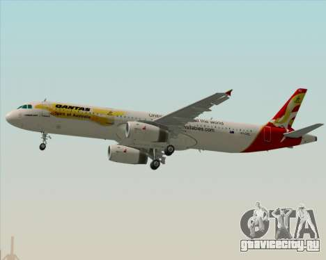 Airbus A321-200 Qantas (Wallabies Livery) для GTA San Andreas двигатель