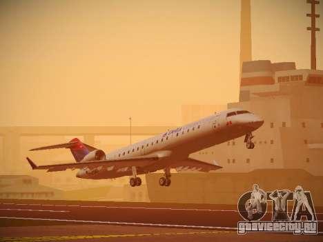 Bombardier CRJ-700 Delta Connection для GTA San Andreas вид слева