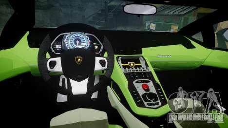 Lamborghini Aventador 50th Anniversary Roadster для GTA 4 вид изнутри