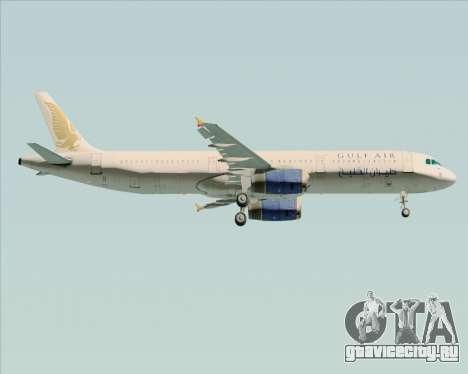 Airbus A321-200 Gulf Air для GTA San Andreas двигатель