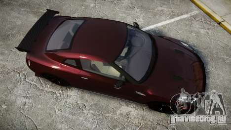 Nissan GT-R R35 Nismo для GTA 4 вид справа
