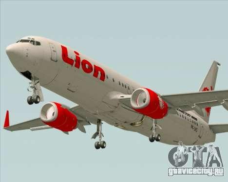 Boeing 737-800 Lion Air для GTA San Andreas вид справа