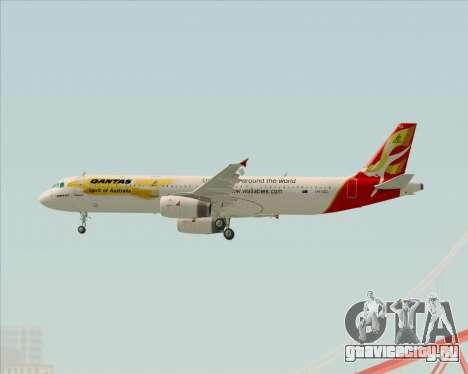 Airbus A321-200 Qantas (Wallabies Livery) для GTA San Andreas вид справа