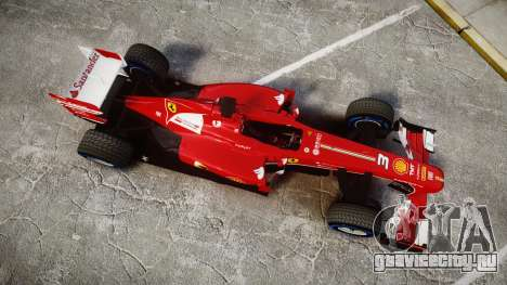 Ferrari F138 v2.0 [RIV] Alonso TFW для GTA 4 вид справа