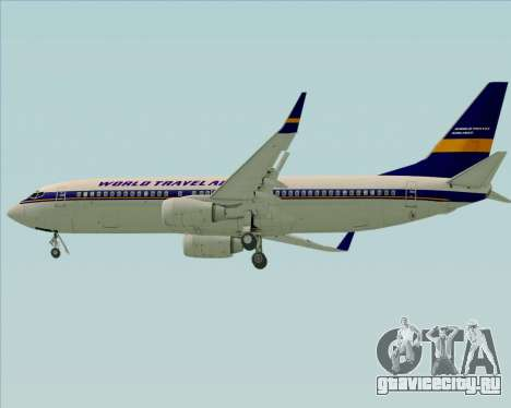 Boeing 737-800 World Travel Airlines (WTA) для GTA San Andreas вид сверху