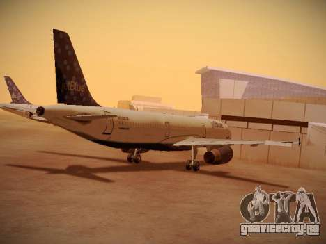 Airbus A321-232 Lets talk about Blue для GTA San Andreas вид справа