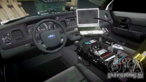 Ford Crown Victoria Unmarked Police [ELS] для GTA 4 вид сзади