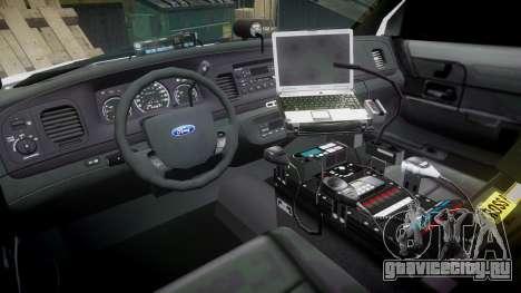 Ford Crown Victoria Unmarked Police [ELS] для GTA 4 вид сзади