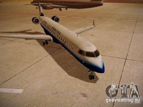 Bombardier CRJ-700 United Express для GTA San Andreas вид сзади