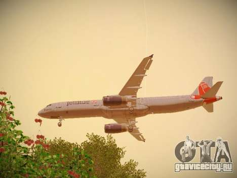 Airbus A321-232 jetBlue Boston Red Sox для GTA San Andreas двигатель