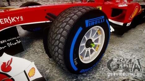 Ferrari F138 v2.0 [RIV] Alonso TFW для GTA 4 вид сзади
