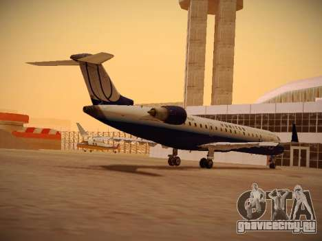 Bombardier CRJ-700 United Express для GTA San Andreas вид сзади слева
