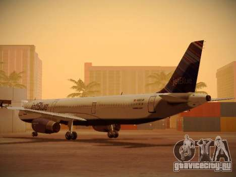 Airbus A321-232 jetBlue Red White and Blue для GTA San Andreas вид справа