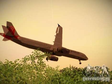 Airbus A321-232 jetBlue Boston Red Sox для GTA San Andreas салон