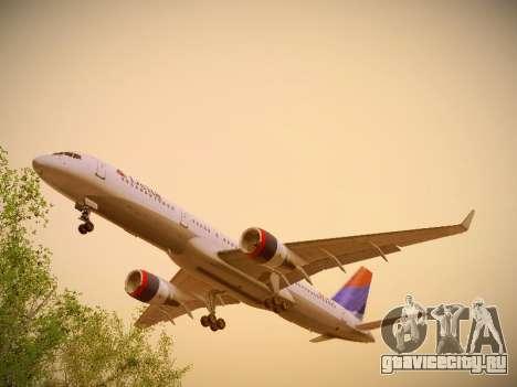 Boeing 757-232 Delta Airlines для GTA San Andreas вид изнутри