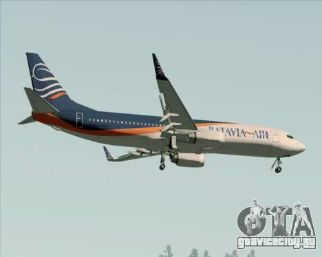 Boeing 737-800 Batavia Air (New Livery) для GTA San Andreas вид сверху