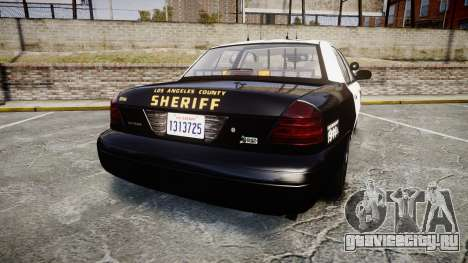 Ford Crown Victoria LASD [ELS] Slicktop для GTA 4 вид сзади слева