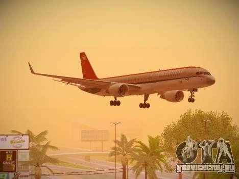 Boeing 757-251 Northwest Airlines для GTA San Andreas вид изнутри