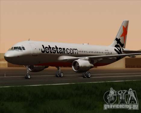 Airbus A320-200 Jetstar Airways для GTA San Andreas вид сзади