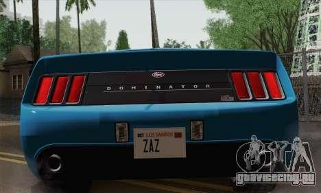 GTA 5 Dominator для GTA San Andreas вид справа