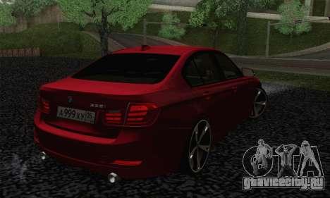 BMW 3 Series F30 2013 для GTA San Andreas вид слева