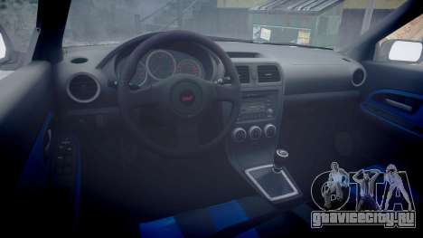 Subaru Impreza WRX STI для GTA 4 вид сзади