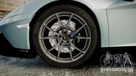 Lamborghini Aventador 50th Anniversary Roadster для GTA 4 вид сзади