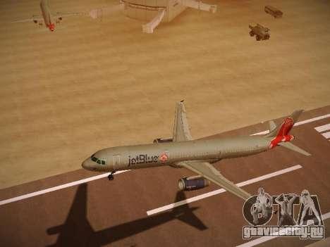 Airbus A321-232 jetBlue Boston Red Sox для GTA San Andreas вид изнутри