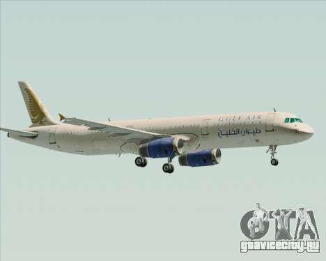 Airbus A321-200 Gulf Air для GTA San Andreas вид изнутри
