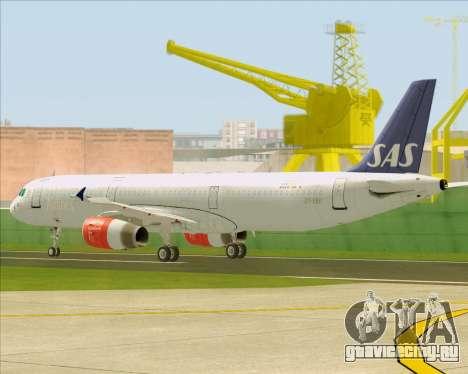 Airbus A321-200 Scandinavian Airlines System для GTA San Andreas вид сверху