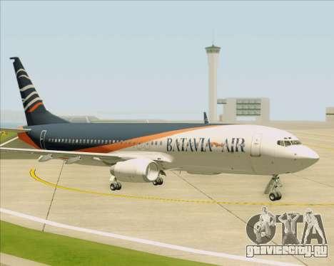 Boeing 737-800 Batavia Air (New Livery) для GTA San Andreas вид снизу