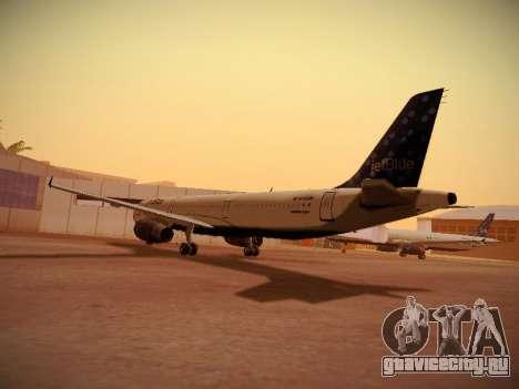Airbus A321-232 Lets talk about Blue для GTA San Andreas вид сзади слева
