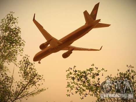 Boeing 757-224 United Airlines для GTA San Andreas вид сверху