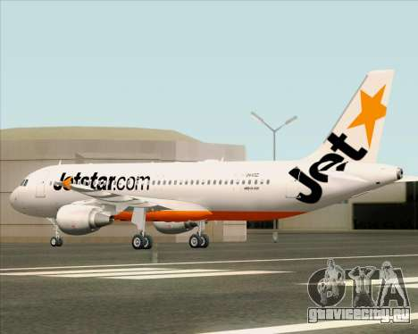 Airbus A320-200 Jetstar Airways для GTA San Andreas вид сверху