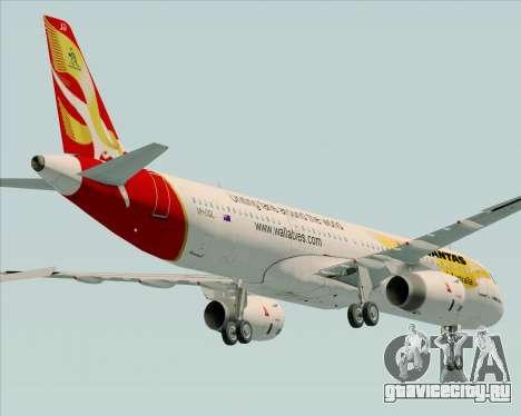 Airbus A321-200 Qantas (Wallabies Livery) для GTA San Andreas вид сверху