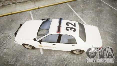 GTA V Vapid Cruiser LSS White [ELS] для GTA 4 вид справа